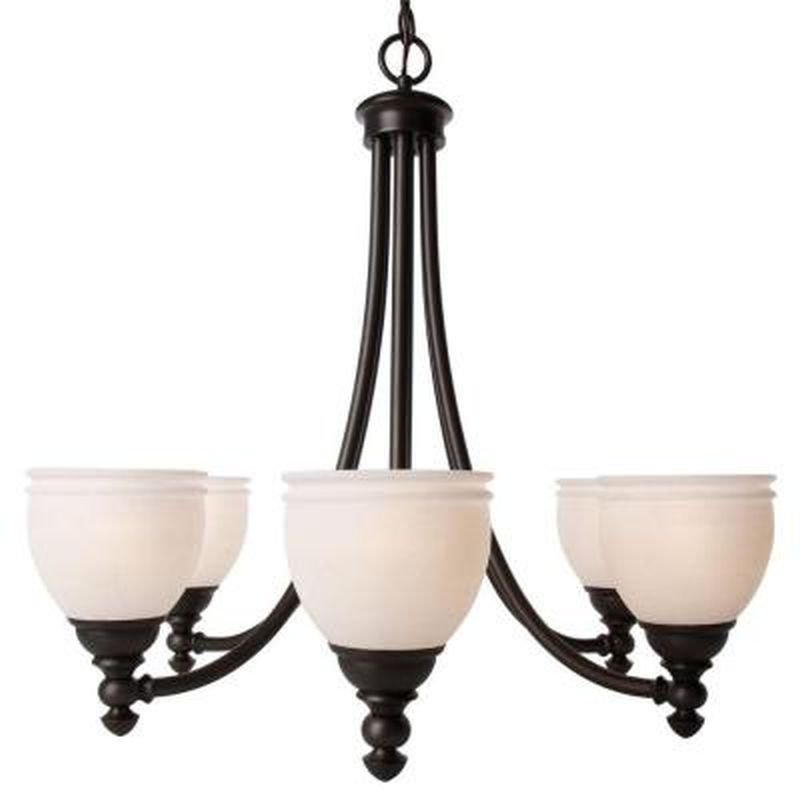 Hampton Bay Chandelier #27060 Stanton Hills 6-Light Fixture Sable Bronze Patina