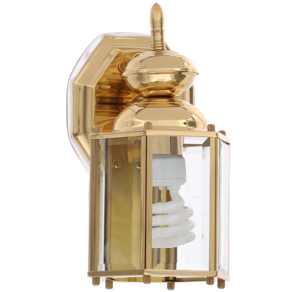 Progress Lighting BrassGUARD Polished Brass Outdoor Wall Lantern Exterior Light