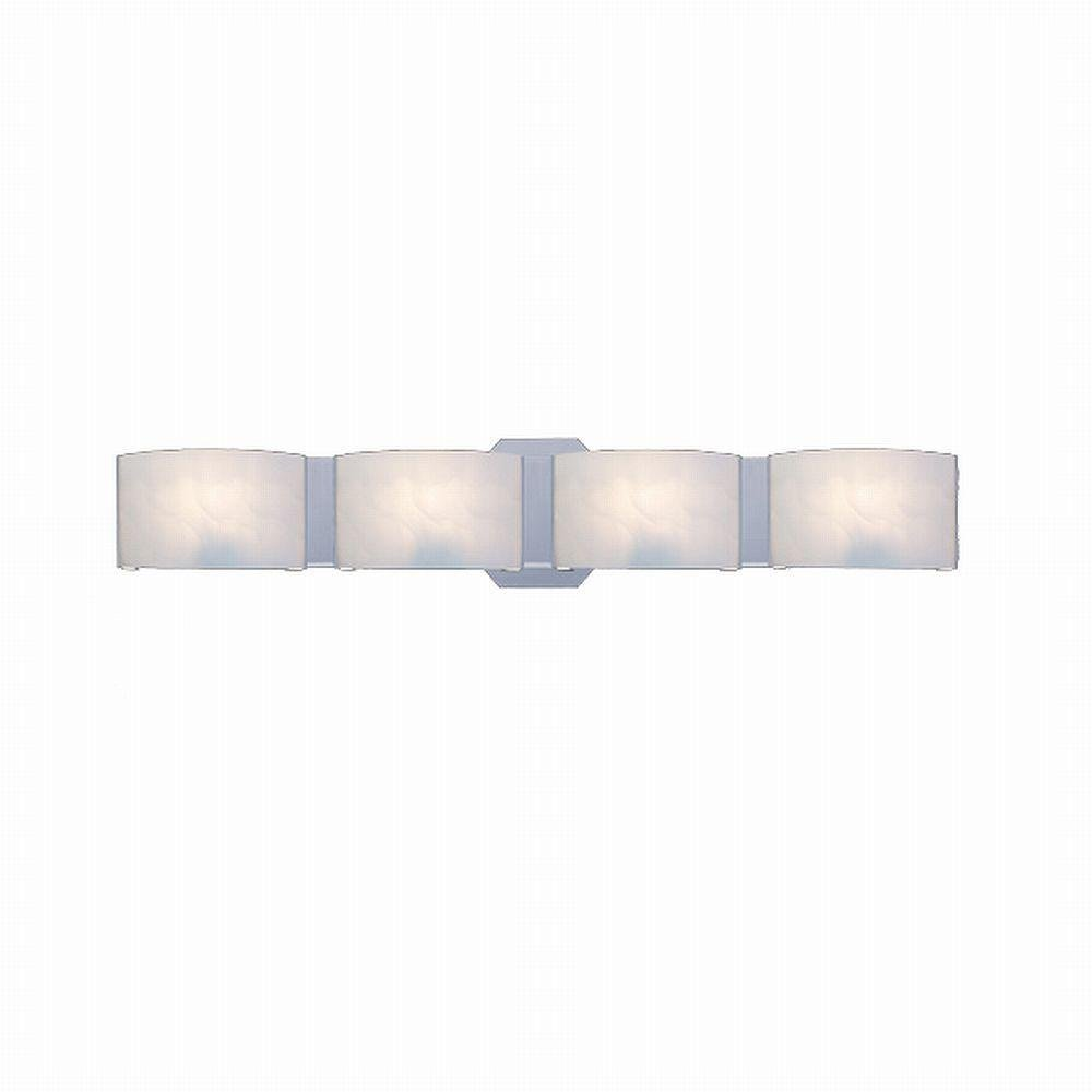 Hampton Bay Dakota 4-Light Bath Bar Lighting Fixture Satin Nickel