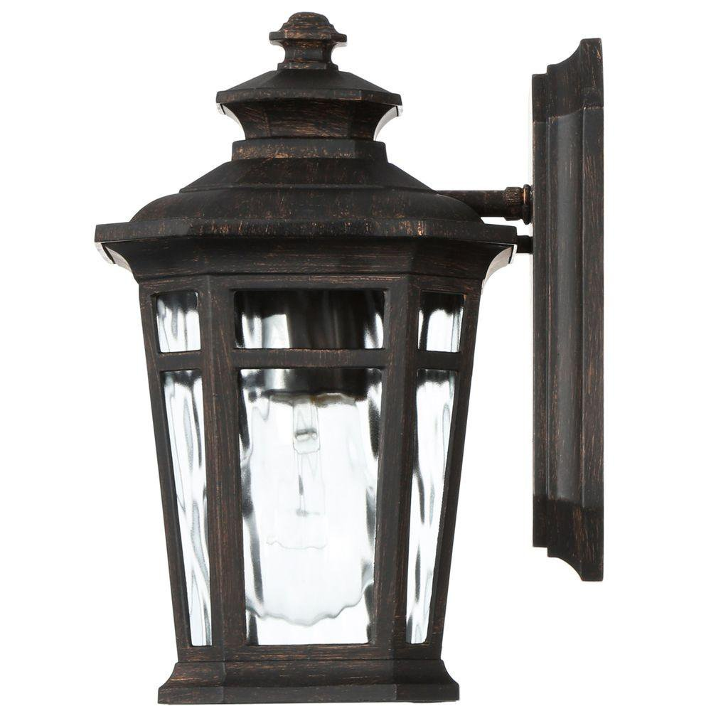 Home Decorators Collection Waterton Small Exterior Wall Lantern Light Fixture