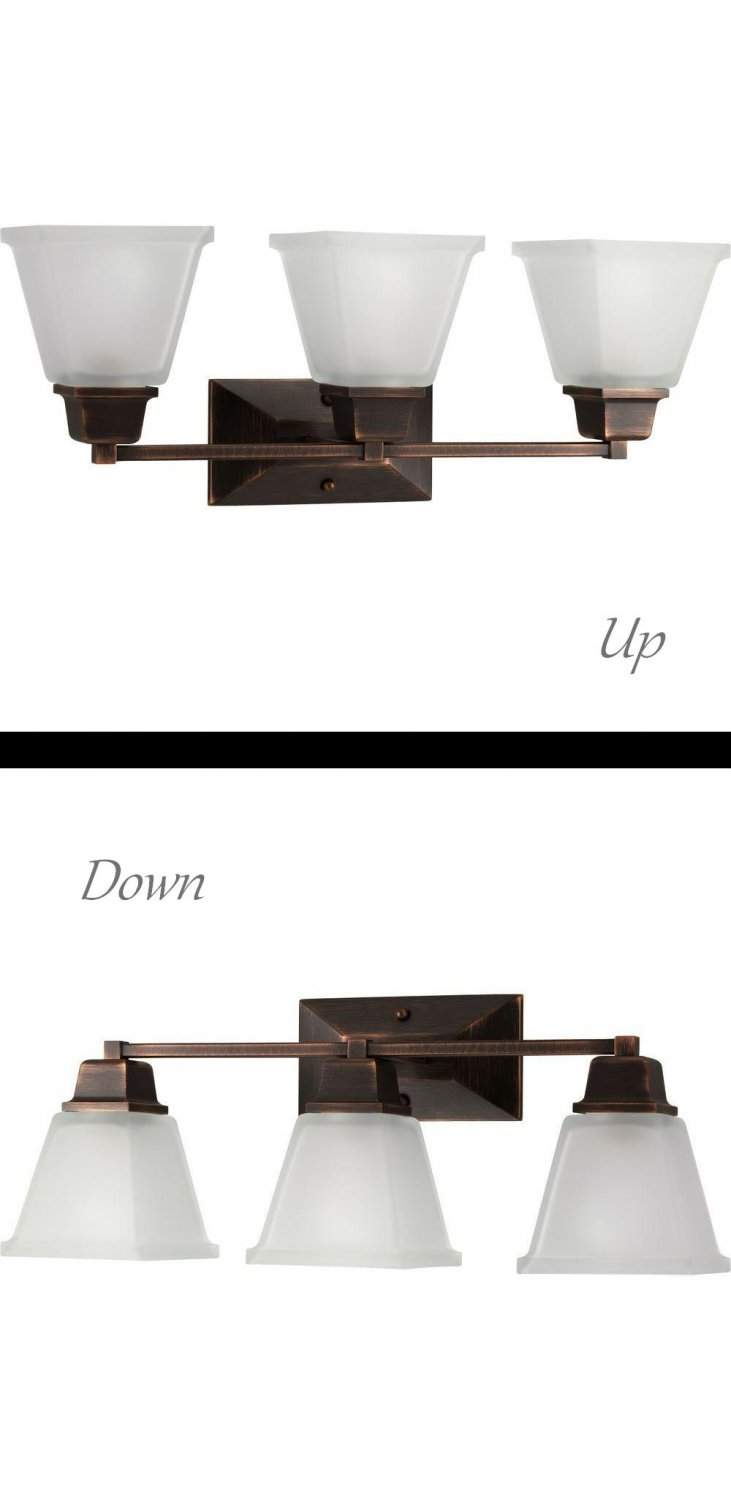 Progress Lighting North Park Collection 3-Light Venetian Bronze Vanity Fixture