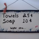 towels...soap