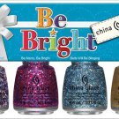 China Glaze BE BRIGHT Set ~ 4 Peice Mini 2013 Holiday Collection Nail Polish/Lacquer