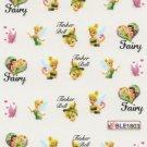 Tinkerbell & Pink Butterflies Nail Art Decals ~ Water Slide Transfer Stickers
