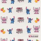 Stitch & Angel Nail Art Decals ~ Water Slide Transfer Stickers