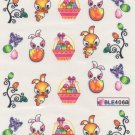 Hopping Easter Bunny Nail Art Decals ~ Water Slide Transfer Stickers