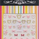 Mickey Mouse Pink & Gold 3D Nail Art Decals ~ Transfer Stickers