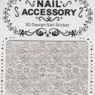Silver Floral 3D Nail Art Decal ~ Cut Out Your Own Design ~ Transfer Sticker