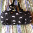 Black and White Skull Mini Duffel Bag