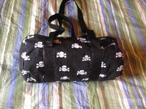 Black and White Skull Mini Duffel Bag