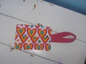 Rainbow Hearts Wristlet