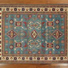 Blue Oriental Rug, Super Kazak Wool 9' X 12' Hand Knotted Tribal Design Rug S461