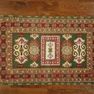 Green, Hand Knotted Persian Style Oriental Rug 3' X 5' | H2706