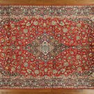 New Traditional Floral Kashan 10'x16' Siam Red/Navy Hand Knotted Wool Rug GT316