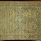 New Unique Real Pakistani Chobi Peshawar 9x12 Hand KNotted Washed Out Rug H3791