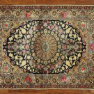 "New Signed Persian Isfahan 3' 8"" X 5' 2"" Hand Knotted Wool & Silk Rug GZT411"