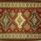 Exquisite 7x10 Hand Knotted Super Kazak Red/Ivory Oriental Wool Area Rug H7724