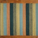 New Country Style Wool Kilim 3' X 5' Hand Knotted Modern Stripe Rug VH2829