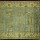 New 6'x9' Geo-Floral Oushak Wool Hand Knotted Oriental Light Blue Area Rug H7349
