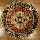 New 12' Round Oriental Floral Red Heriz Serapi Hand Knotted Wool Area Rug H8618