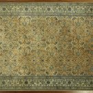 Authentique Persian Nian Camel Brown 8x12 Hand Knotted Wool/Silk Rug H8040