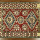 Mesa Collection 7'x10' Red Wool and Wool Hand Knotted Super Kazak Area Rug H6636