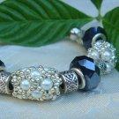 Black and White Hand Beaded Bracelet