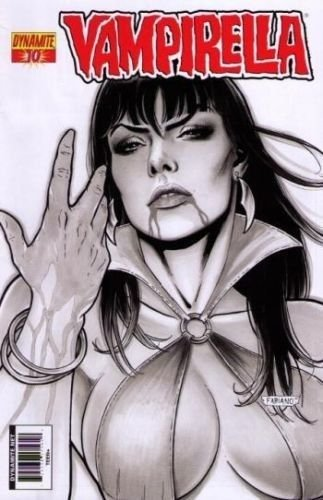 Vampirella #10 Neves B&W Variant Near Mint