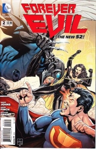 FOREVER EVIL # 2  Near Mint  1:25 Crime Syndicate VARIANT cover Owlman Ultraman