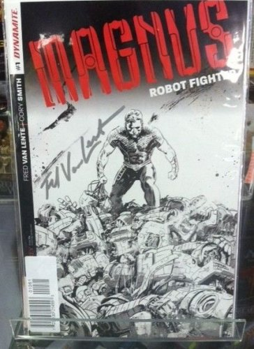 Magnus the Robot Fighter #1 Fred Van Lente Silver Signature 1:200 Variant