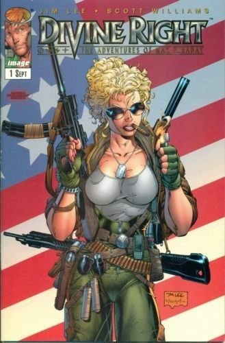 Divine Right #1 Jim Lee American Entertainment Exclusive Variant 1997