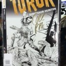 Turok Dinosaur Hunter #1 Variant 1:250 Greg Pak Gold Signature COA 2014