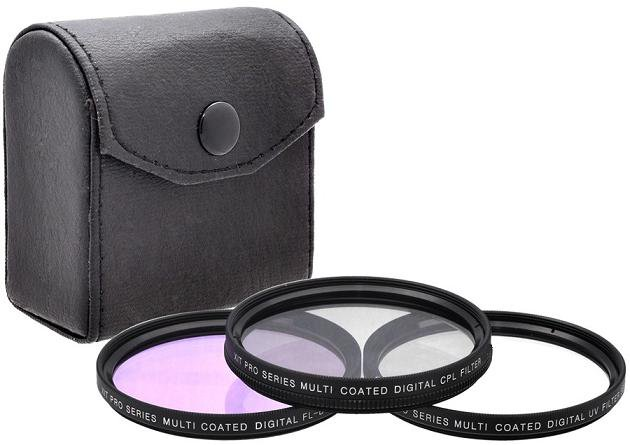 58mm 3PC Lens Filter Kit For Photo and Video Camera