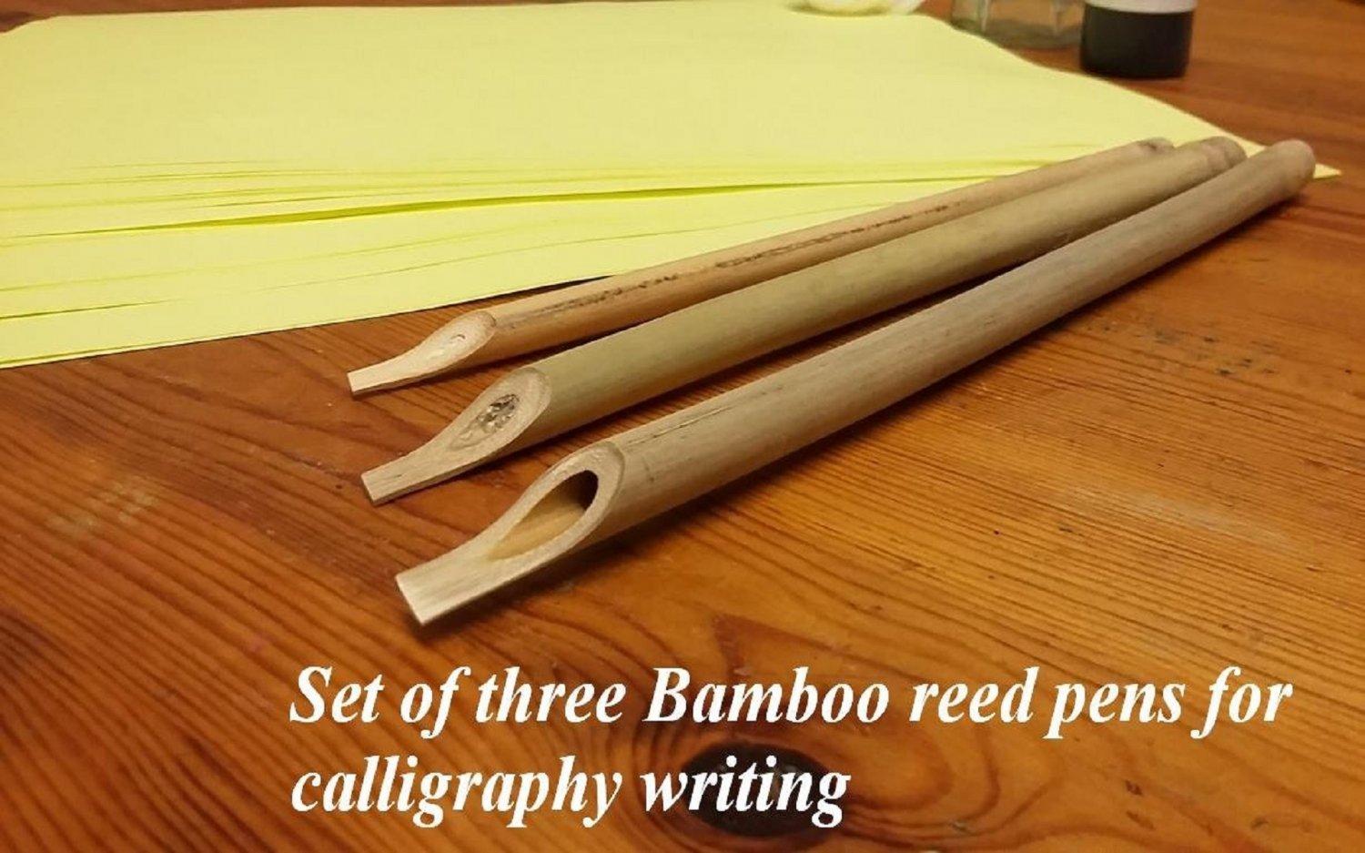 Bamboo Reed Pens For Arabic Calligraphy Set Of Three