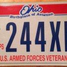 Ohio USMC Marine Corps Veteran license plate Military Semper Fidelis Leatherneck
