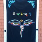 Black Wisdom Eye Cotton Door Curtains NEPAL