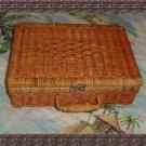 Unique Vintage Wicker Box Purse