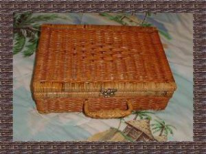 Unique Vintage Wicker Box Purse