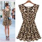 Free Shipping Women's Leisure Slim Fit Leopard Print Dress
