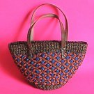 Beautiful Handmade Straw Tote Purse Handbag