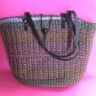 Beautiful Handmade Straw Tote  Handbag