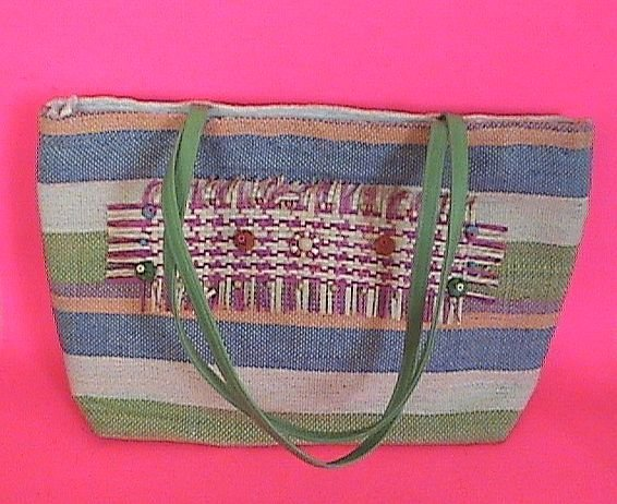 Beautiful Handmade Straw Tote Handbag