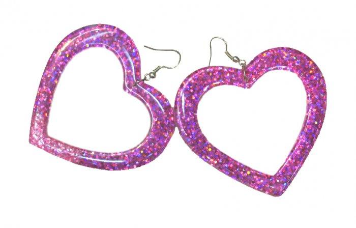 Glitter Heart Earring