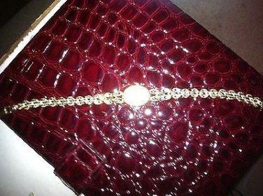 ��HUGE SALE +40%OFF�� STUNNING ELGIN 10k Yellow Gold/Diamond Ladies Dress Watch