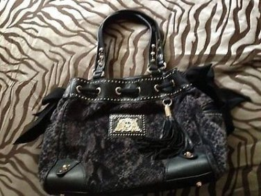 """SALE��NTN�� JUICY COUTURE SEXY """"WILD THING"""" DAYDREAMER PEWTER SNAKE ~VELOUR"""