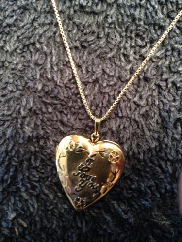 "��PERFECT FOR MOM (MOTHER)��Vintage ""I LOVE YOU"" Pendant/Locket/Necklace 10k"
