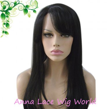 synthetic 18inch right part band mono top wig