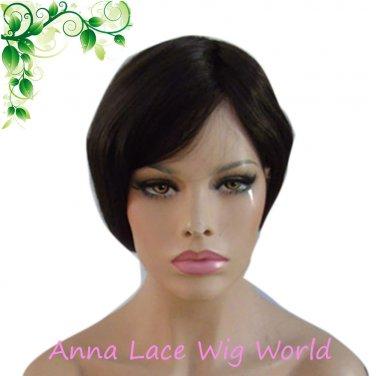 100% human hair natural black 18inch top closure