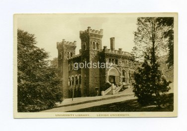University Library Lehigh University Bethlehem Pennsylvania postcard