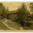 Jenks Hall Lafayette College Easton Pennsylvania postcard